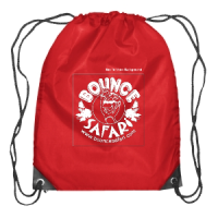 Red Bounce Safari Pull String Backpack
